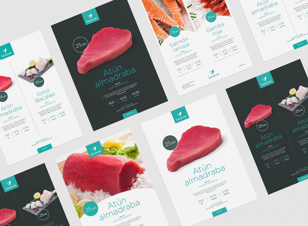 Branding corporativo para Sanamar Alimentación