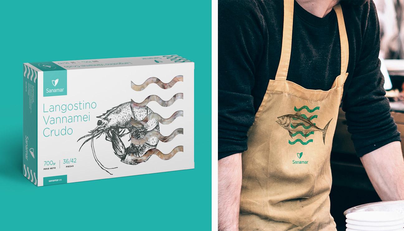 Diseño de packaging Sanamar Alimentación