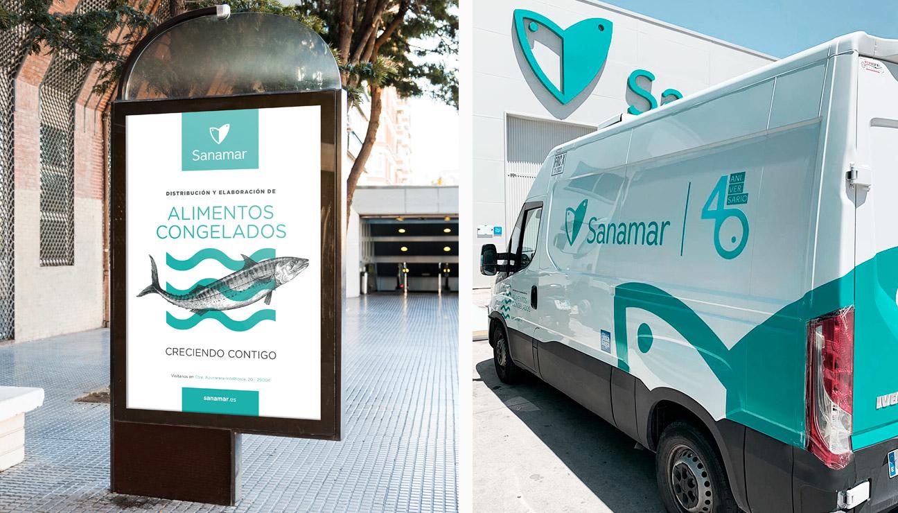 Branding corporativo Sanamar Alimentación