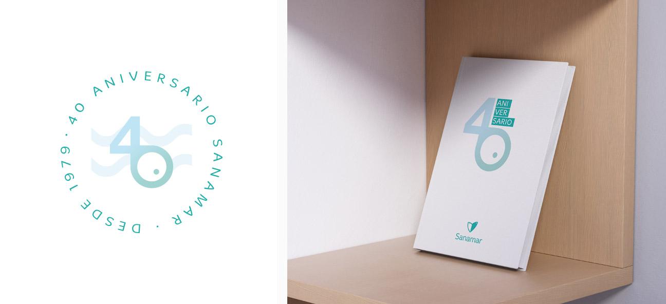 Marca 40 aniversario Sanamar Alimentación